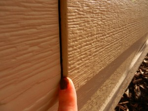 CertainTeed siding - Warped so edges uneven.