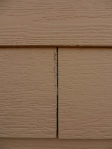 certainTeed siding starting to crumble at the edges
