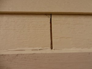 Wide spacing between CertainTeed siding
