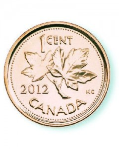 The last Canadian penny was produced on March 2012.