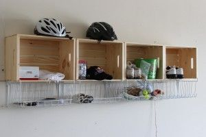 Wall storage cubbies instead of shelves for the whole family!