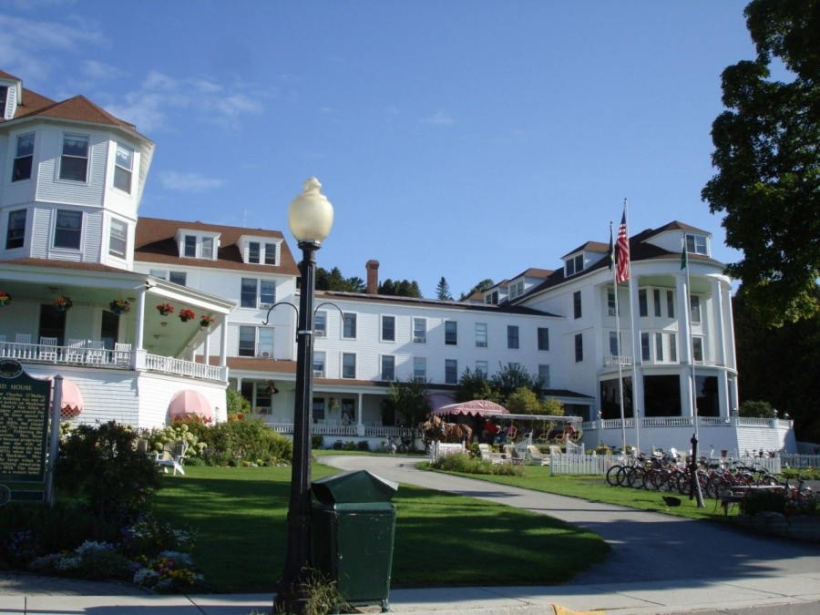 A hotel on Mackinac Island.