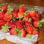 Put the strawberries back in the container.  Paper towel should soak up the water.
