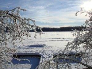 winter cabin.