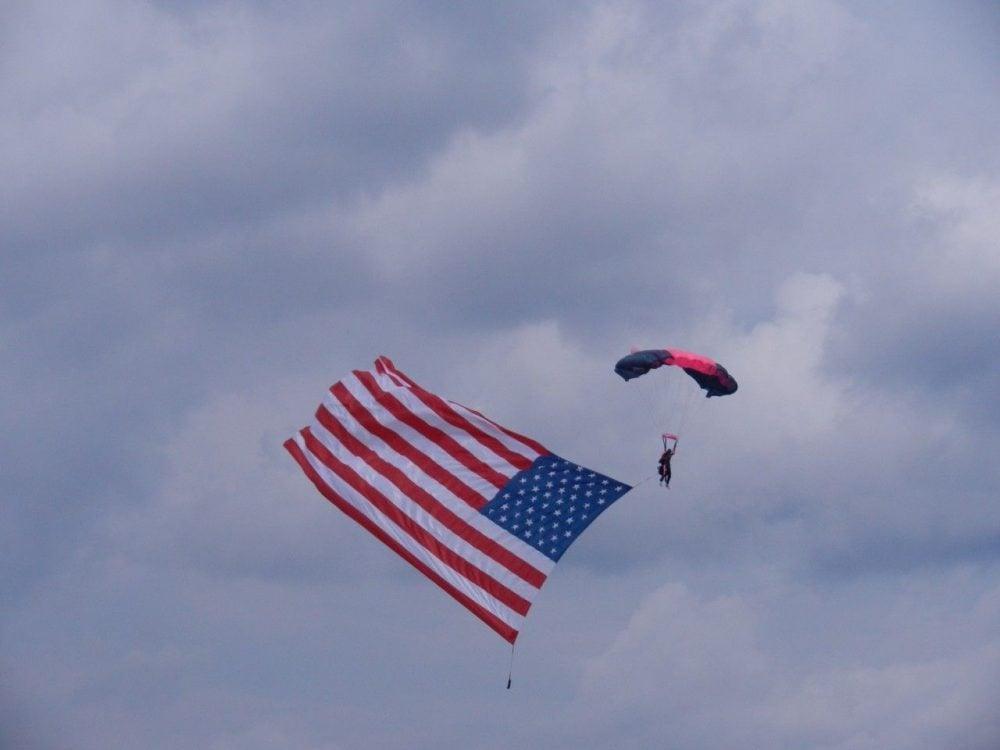 Parachutists at AirVenture