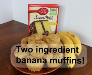 Three ingredient banana muffin.