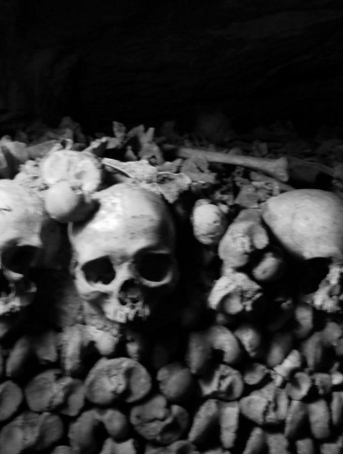 The Paris Catacombs.  Seeing the bones of 6-7 million dead.