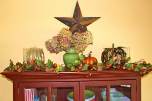 Kitchen cabinet fall display
