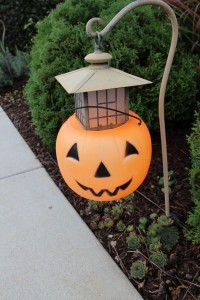 Jack-o-lantern walkway lights