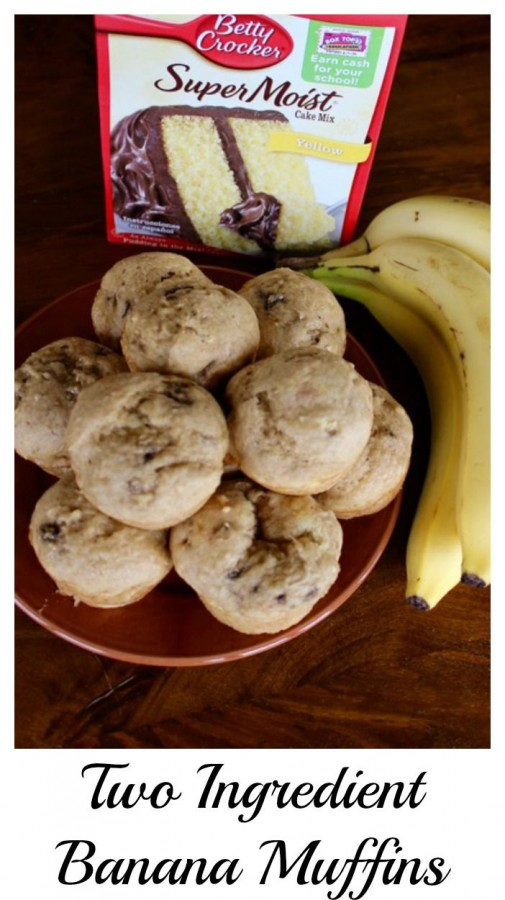 Two ingredient banana muffins!