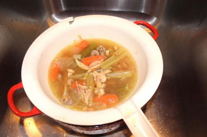 How I strain solids out of my soup stock
