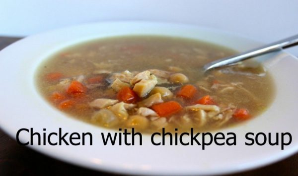 Chicken soup with chickpeas