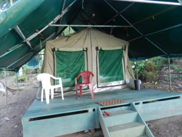 A tent camp in Costa Rica.  Not quite 'glamping'!