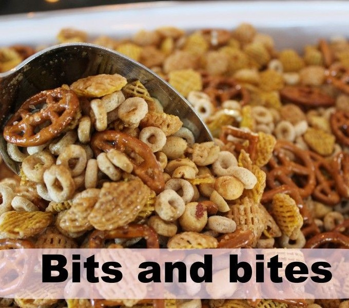 Bits & Bites, Nuts & Bolts or Chex mix