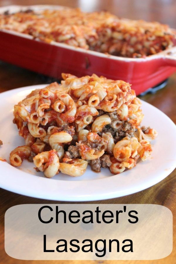 Cheater's lasagna … What's for dinner?