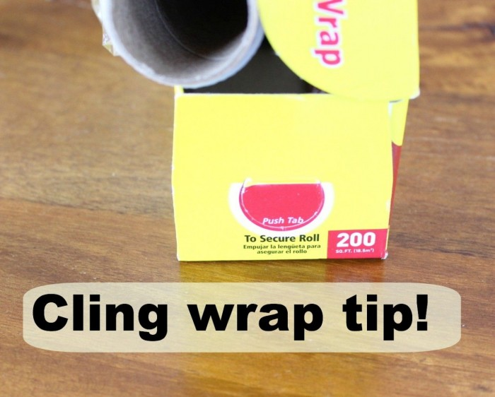 cling wrap tip