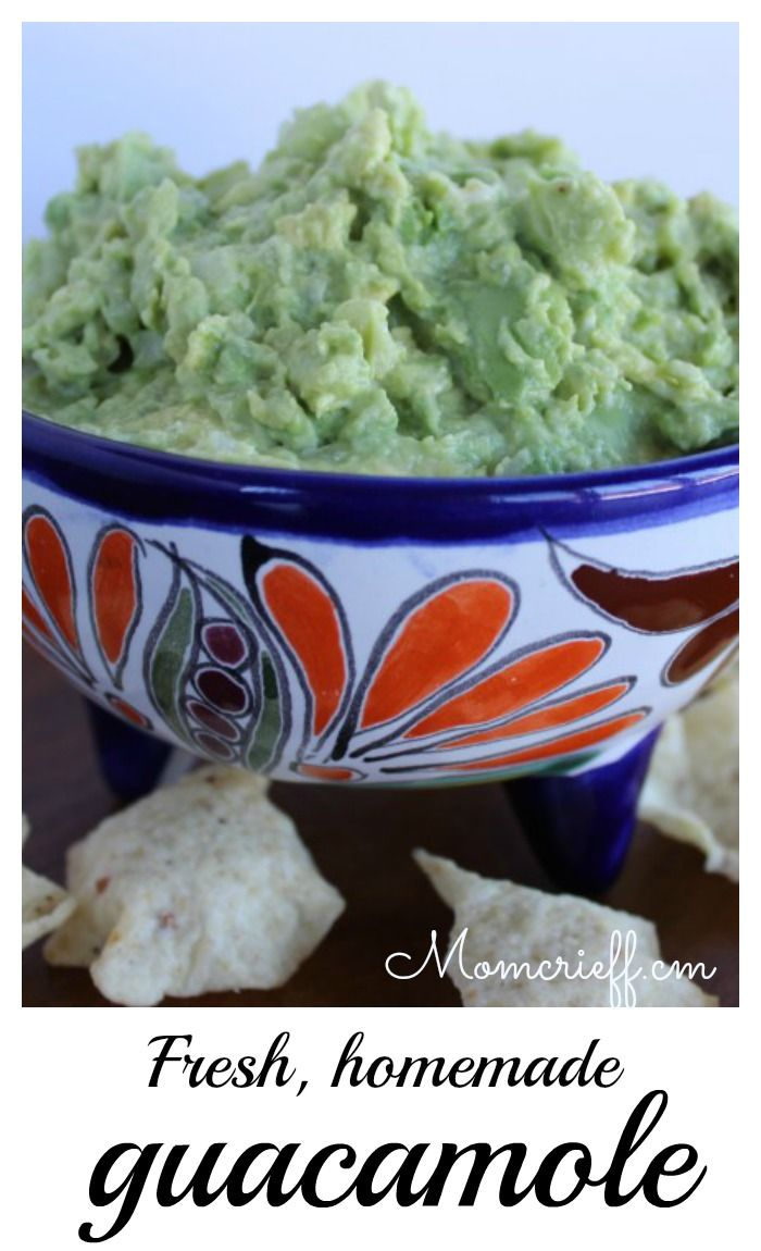 Home made guacamole. Easy to make recipe!