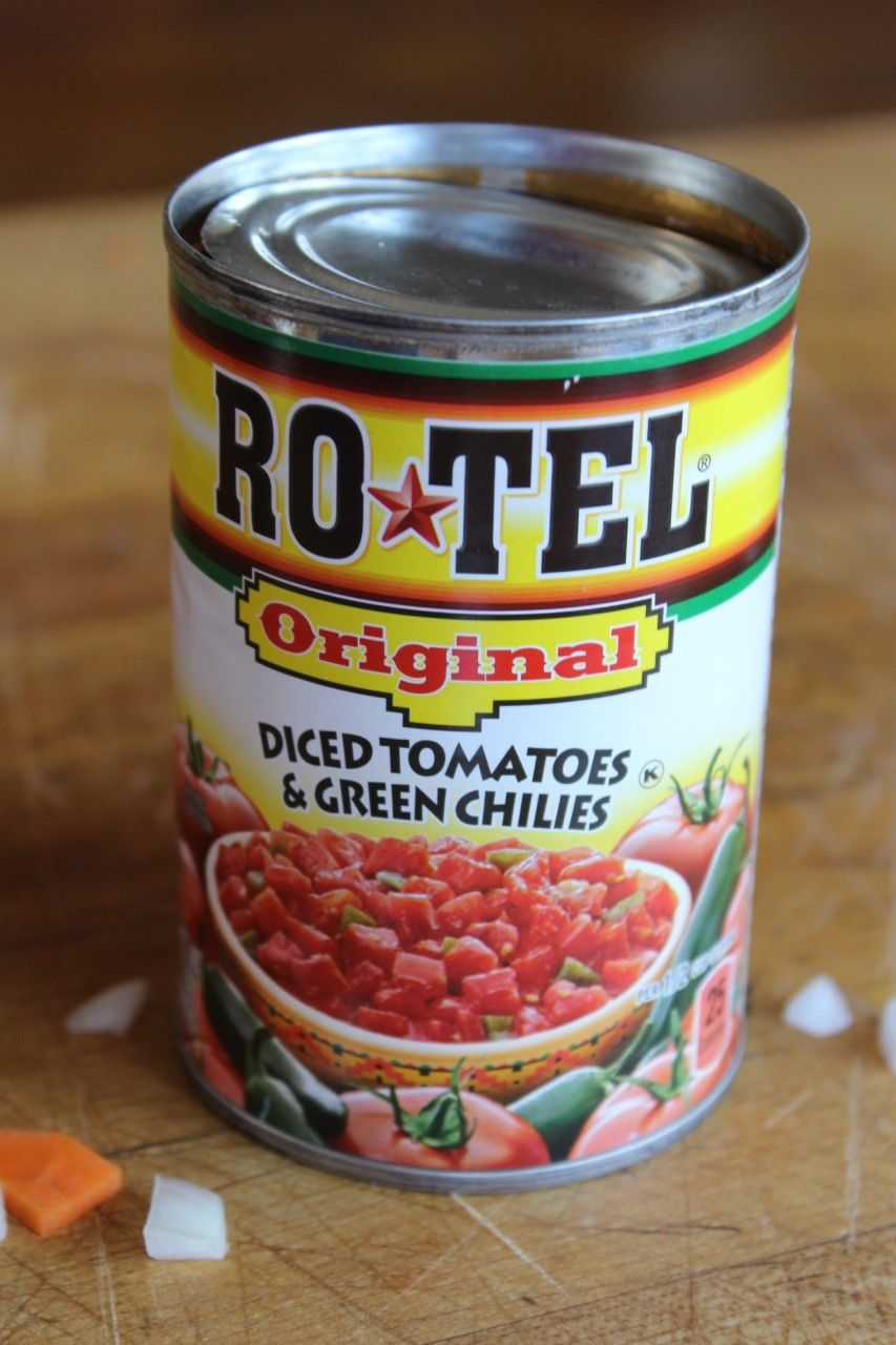 canned diced tomatoes and green chilies