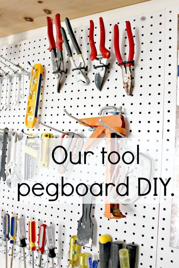 A tool pegboard for the garage – Happy Birthday Hubby!