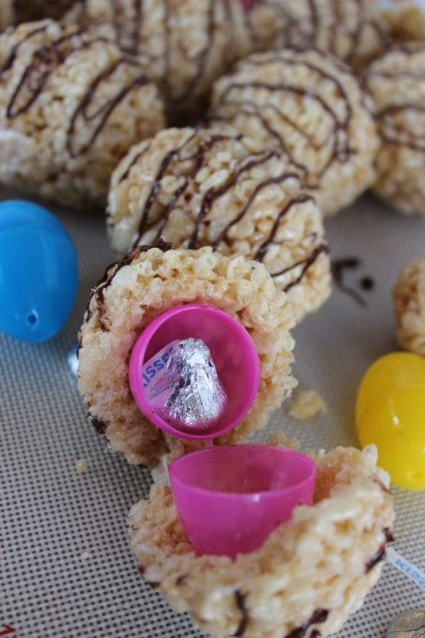 Rice Krispies treat eggs