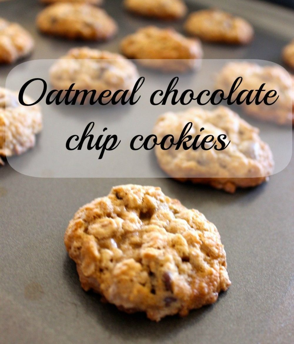 Oatmeal Chocolate Chip Cookies - Momcrieff
