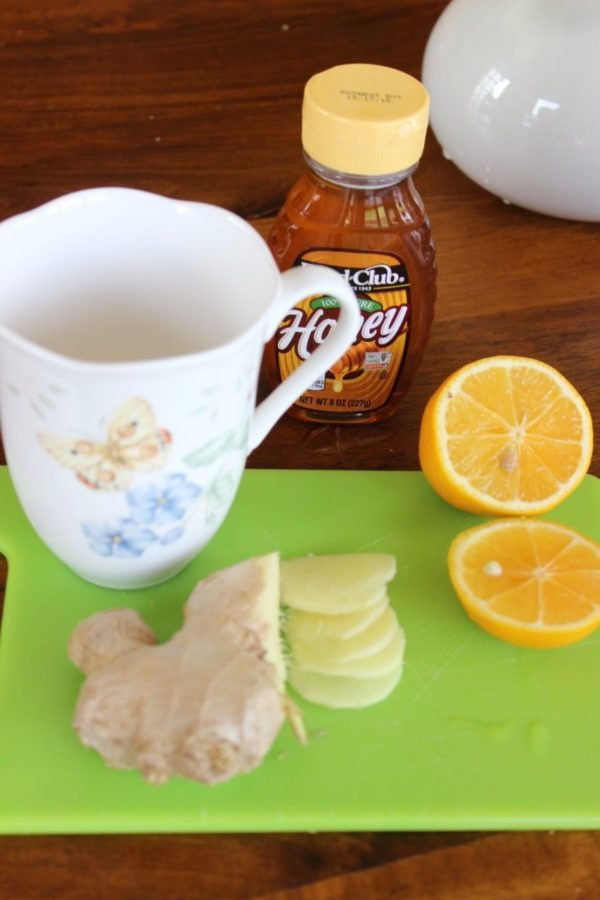 ginger lemon tea with honey