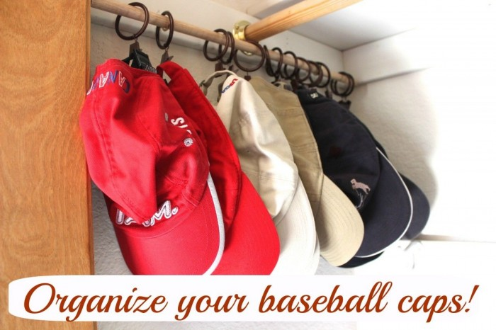organize ball caps