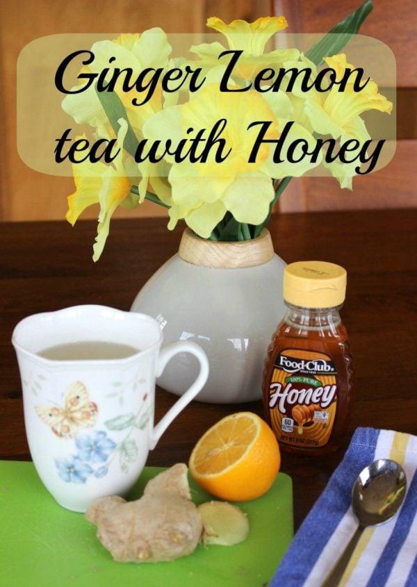 Ginger Lemon Tea with Honey – all natural