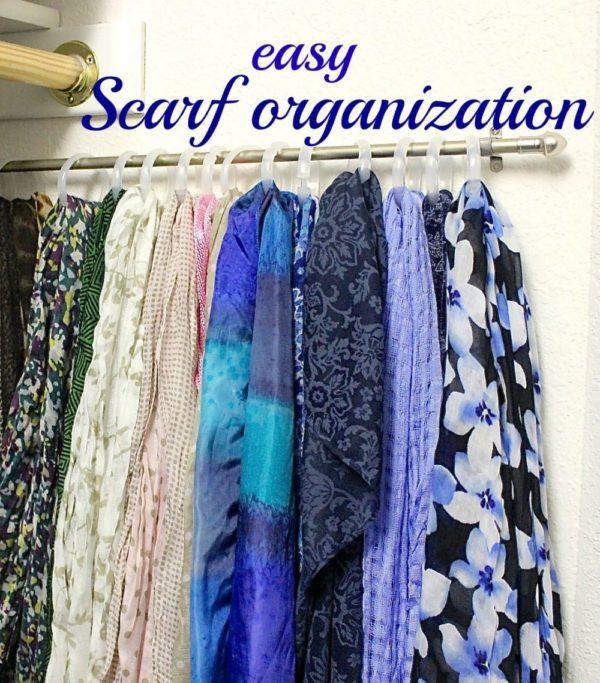 Closet organization – How I organized my scarves.