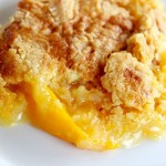 three ingredient peach cobbler