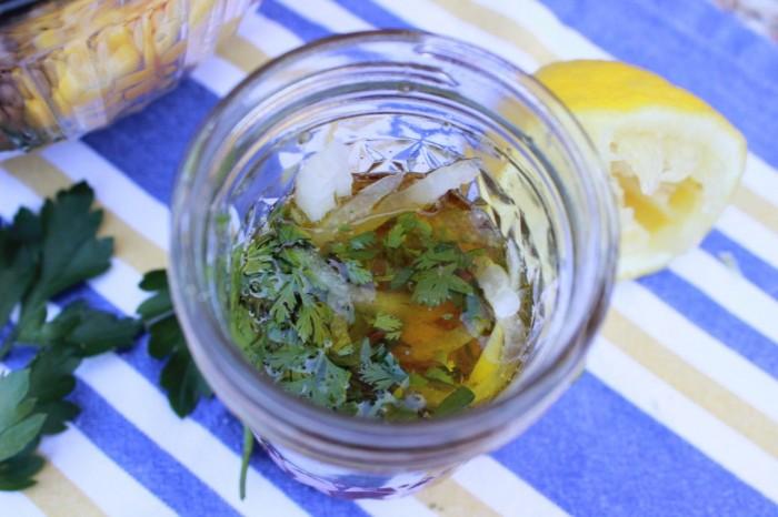 marinade in a mason jar