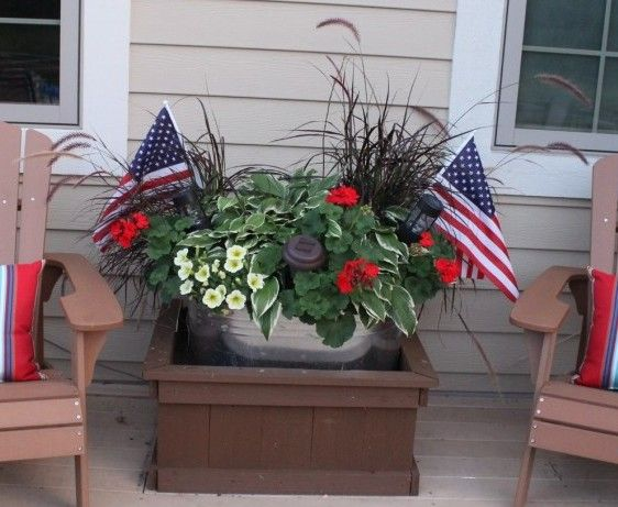 Planter lighting – a lovely glow!