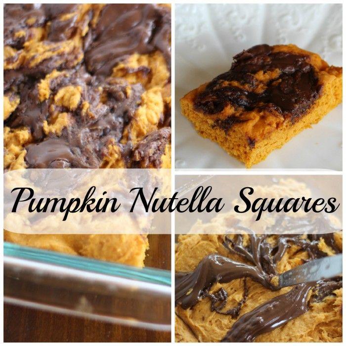 Pumpkin nutella squares