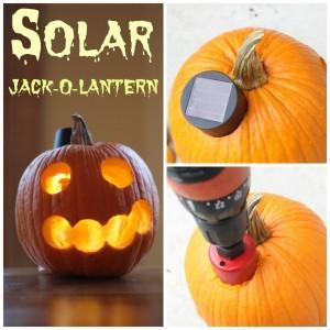 solar jack-o-lantern. A quick and easy tutorial.