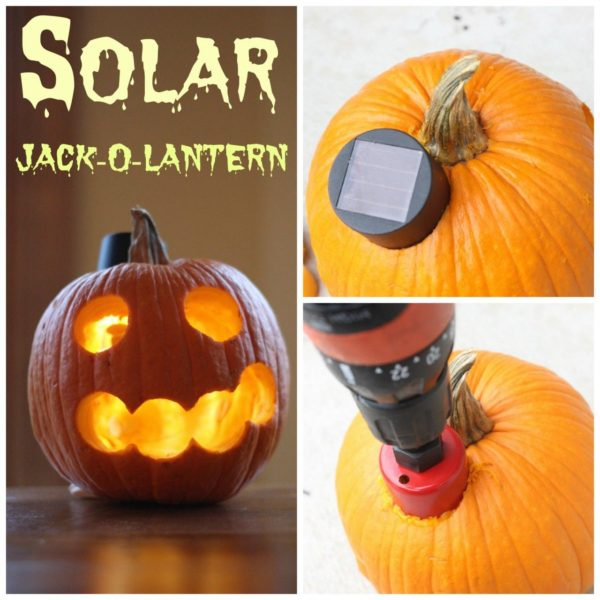 solar jack-o-lantern. A quick and easy tutorial.