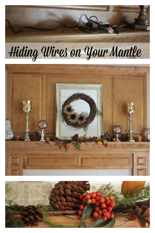 hiding wires on fall mantle