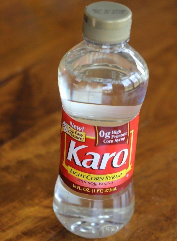 A bottle of Karo syrop used to make Scotcheroos (aka Special K bars)