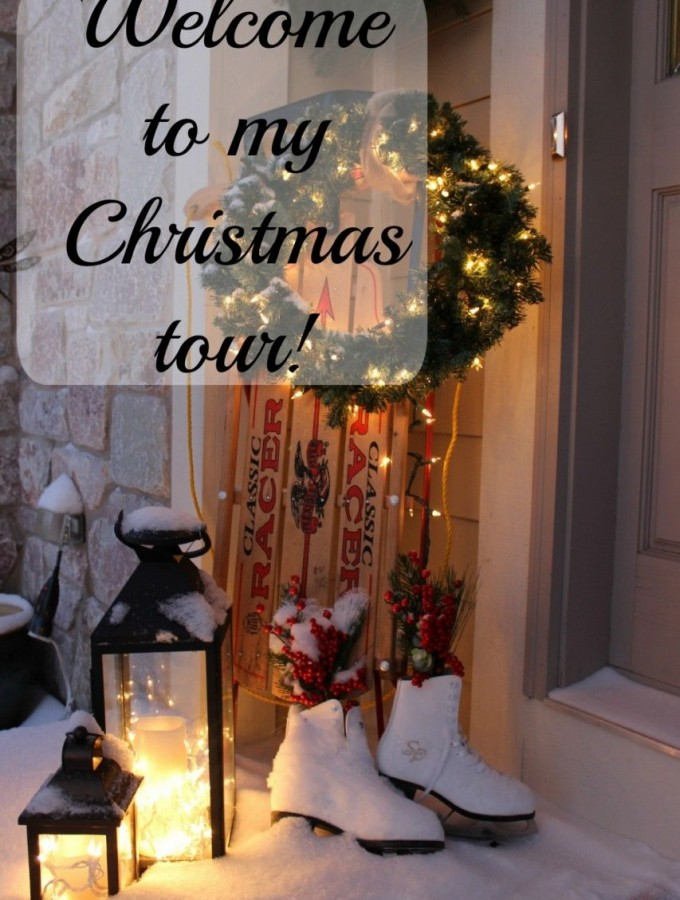 Welcome!  Join me for a Christmas tour of my home!