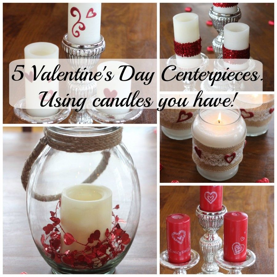 Valentine Candle Centerpiece : Decorate candles for valentine s day momcrieff
