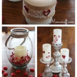 Valentines Day Candles. Repurposing what you have to decorate for Valentines Day.