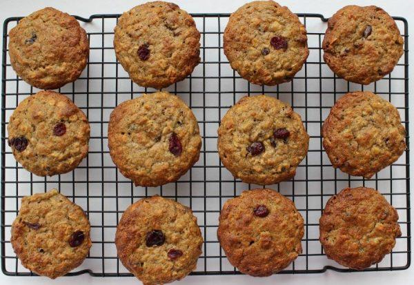 Banana, Cranberry, Oatmeal Breakfast Muffin