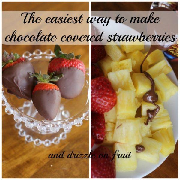 Easiest way to make chocolate strawberries - Momcrieff.com