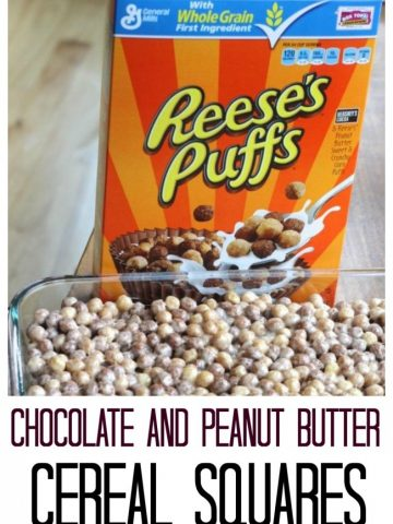 Reesees puffs used to make chocolate and peanut butter cereal squares.