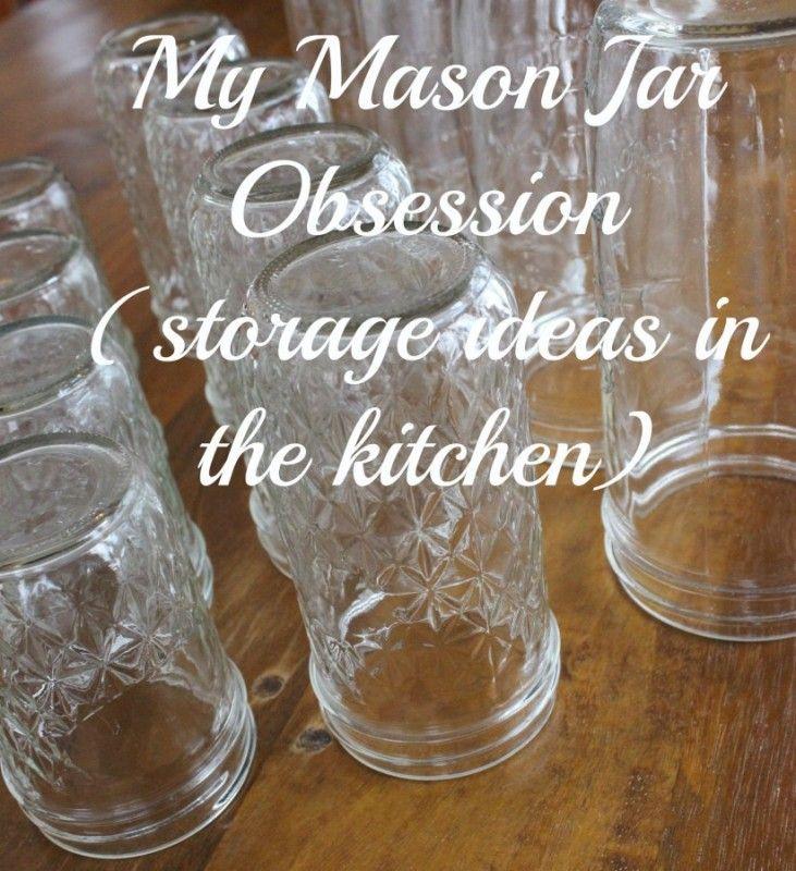 Mason jar storage.