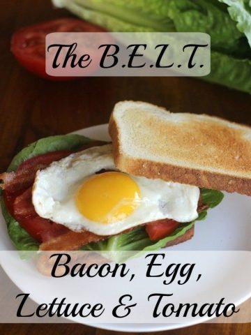 The BELT Sandwich. Bacon, Egg, Lettuce & Tomato