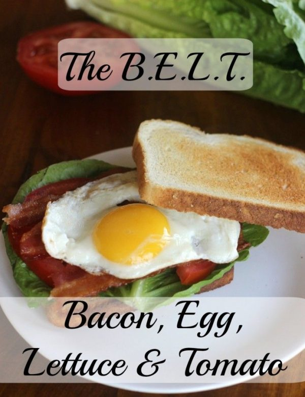 BELT Sandwich (Bacon, Lettuce and Tomato with a special E ingredient)