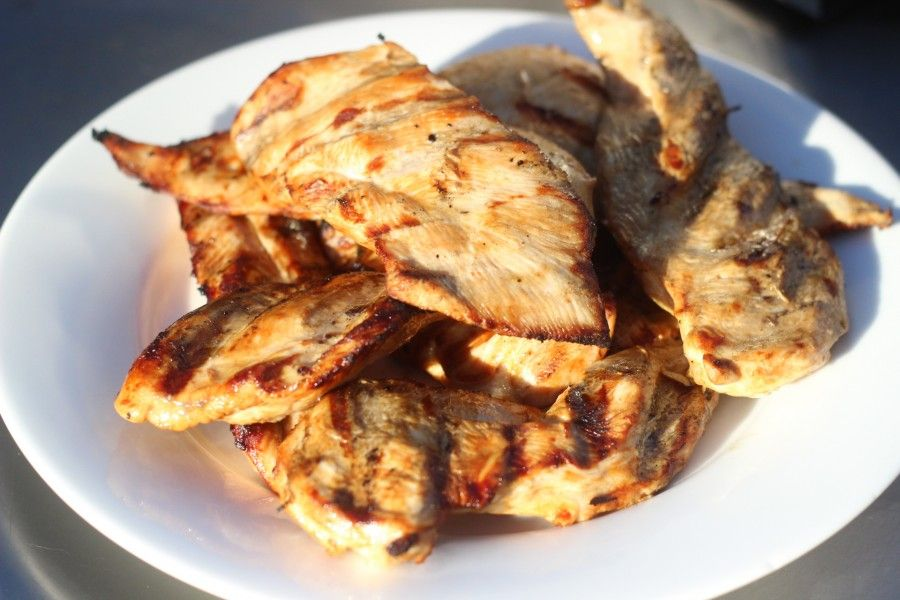 Easy three ingredient chicken marinade.