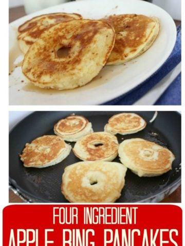 pancake covered apple slices