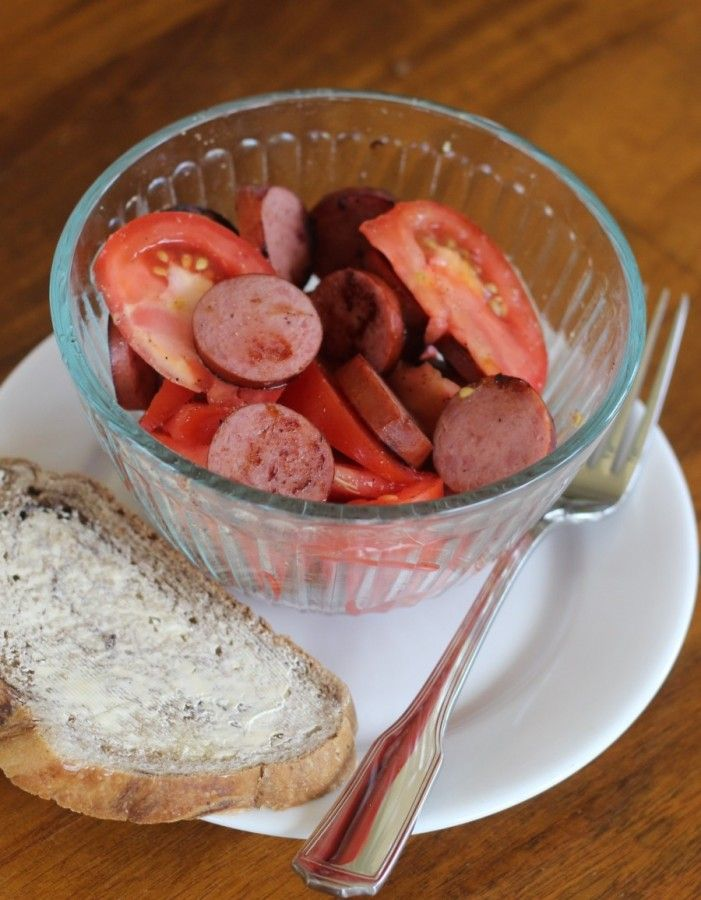 Tomato and Kielbasa salad