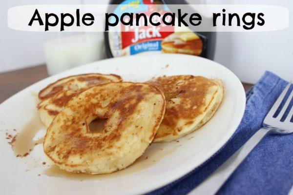 Apple pancake rings – as breakfast or after school snack!